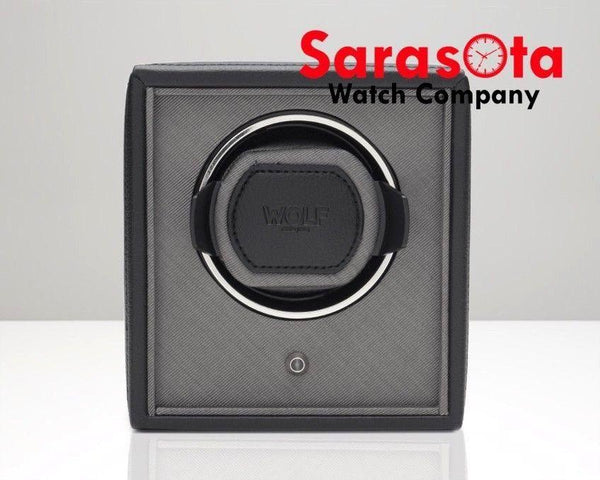 Wolf Design 455203 Black/Gray Finish Cub Single Watch Winder