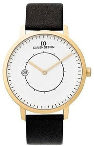 Danish Design IQ15Q832 Titanium Gold Tone Date Designer Dress Men's Watch