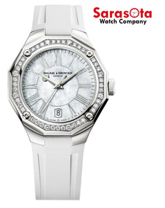 Baume & Mercier Riviera Ladies Diamond Bezel 38mm Watch MOA08793