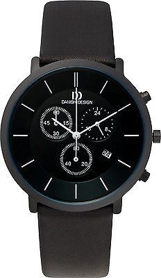 Danish Design IQ16Q772 Sport Leather Band Chronograph Date Men's Watch