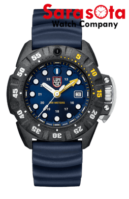 Luminox Scott Cassell Deep Dive XS.1553 Blue Dial Rubber Band Wrist Watch