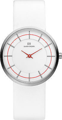 Danish Design IV24Q983 Stainless Steel White Leather Band Women's Watch