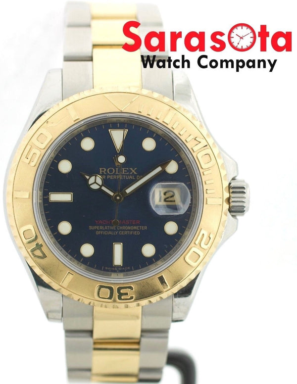 Rolex Yacht-Master 16623 Blue Dial 18K/Stainless Automatic 2007 Men's Watch W/P