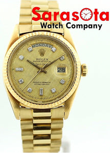 Rolex Day-Date Presidential 1803 Diamond Dial 18KYG NON Quick Set Men's Watch