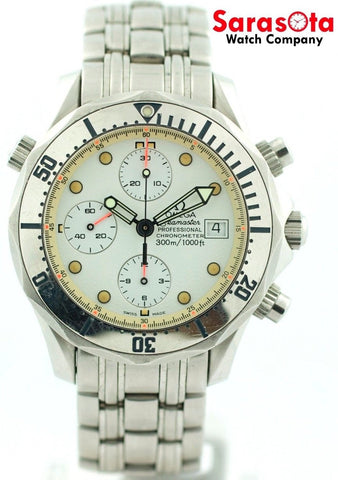 Omega Seamaster 2598.20 White Dial Chronograph Steel Automatic Sport Men's Watch