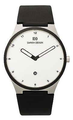 Danish Design IQ12Q884 Stainless Steel Case Leather Band White Dial Men's Watch