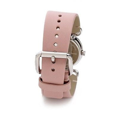 Marc by Marc Jacobs MBM1305 Silver Tone Case Pink Leather Strap Women's Watch