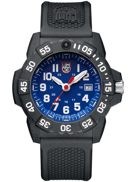 Luminox XS.3503.F 45mm Blue Dial Black Rubber Band Mens Watch