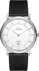 Danish Design IQ12Q898 Titanium Case White Dial Leather Date Men's Watch