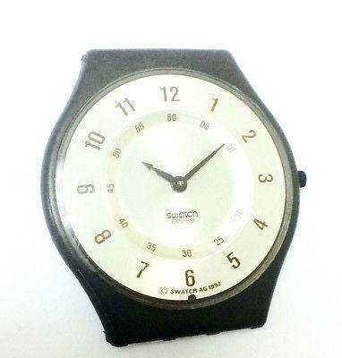 Swatch AG 1987 Silver Dial Brown Resin Case Men's Watch