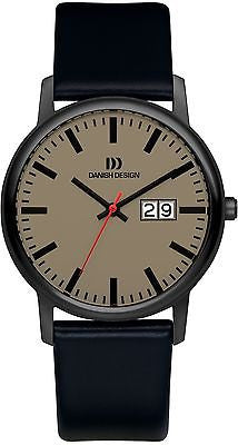 Danish Design IQ12/IQ14Q974 Titanium Case 5 ATM Leather Band Men's Watch