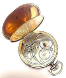 WALTHAM MASS. 10 K GOLD FILLED Open Face Pocket Watch