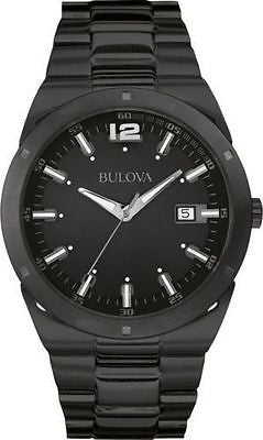 Bulova 98B234 Black Ion Plated Stainless Steel Classic Men's Casual Watch