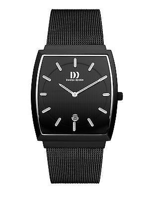 Danish Design IQ64Q900 Stainless Steel Case Date Black Dial Men's Watch