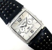 Anne Klein Square Diamond Bezel Leather Strap Dress Women's Watch - Sarasota Watch Company