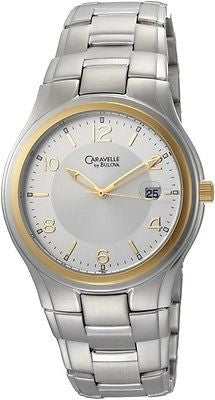 Caravelle by Bulova 45B112 Two Tone Stainless Steel Date Casual Men's Watch