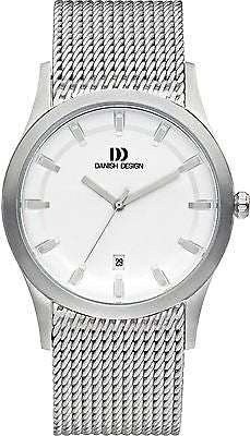 Danish Design IQ62Q972 White Dial 5 ATM Stainless Steel Band Men's Date Watch