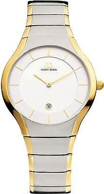 Danish Design IQ65Q943 Titanium Two Tone White Dial Men's Watch