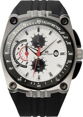 Danish Design IQ12Q739 Stainless Steel Chronograph Rubber Sport Men's Watch