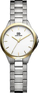 Danish Design IV65Q966 Titanium Case Two Tone White Dial 5 ATM Women's Watch
