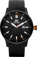 Danish Design IQ26/IQ28Q997 Stainless Steel Rubber Band Black Dial Men's Watch