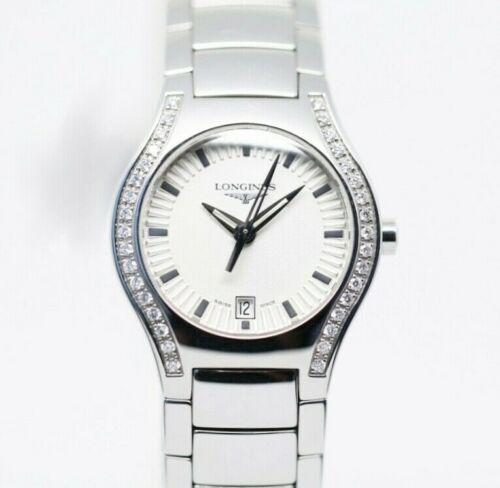 Longines L3.125.0.72.6 Oposition Silver Dial Diamond Steel Quartz Women's Watch - Sarasota Watch Company