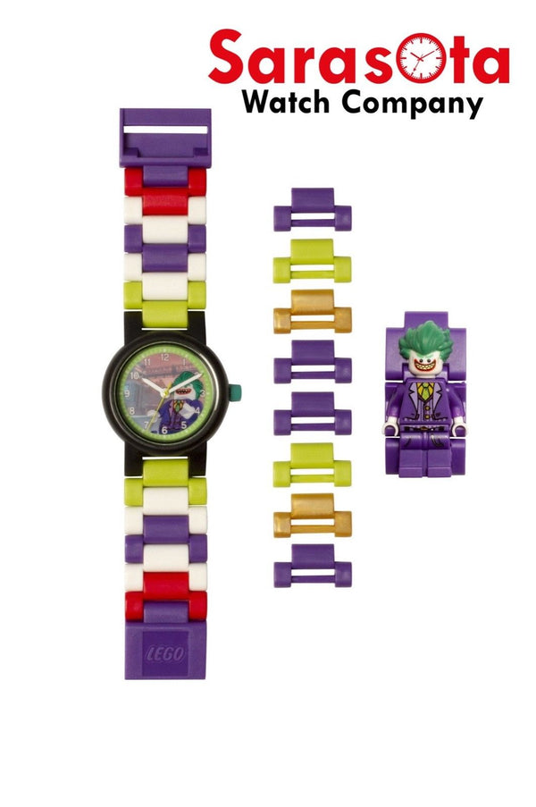 LEGO® 8020851 Batman Movie The Joker Minifigure Link Kid's Watch Age 6+ 24PCS