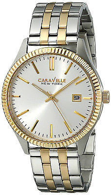 Caravelle New York 45B129 Two Tone Stainless Steel Quartz Analog Men's Watch