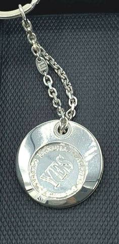 "Dunhill JSH8835 ""Yes""/""No"" Decision Coin Keychain 925 Sterling Silver"