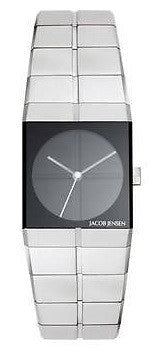 Jacob Jensen Icon Series 220 Stainless Steel Rectangle Swiss Quartz Womens Watch