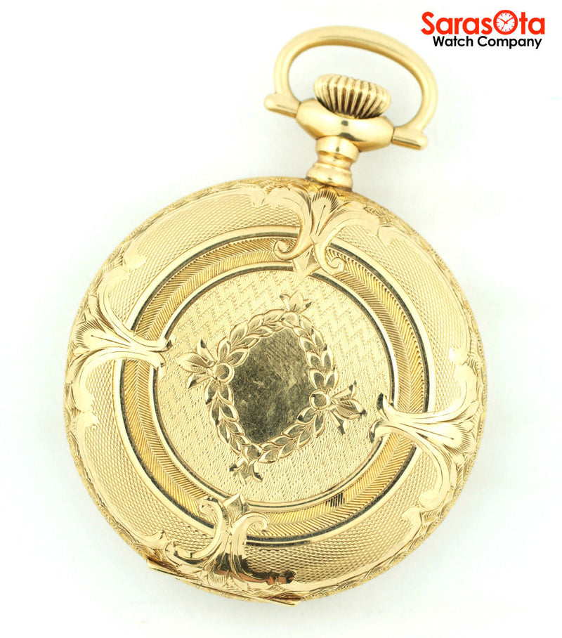 Vintage Elgin Natl. Watch Co. 17 Jewel 12 Size 14K Yellow Gold Pocket Watch