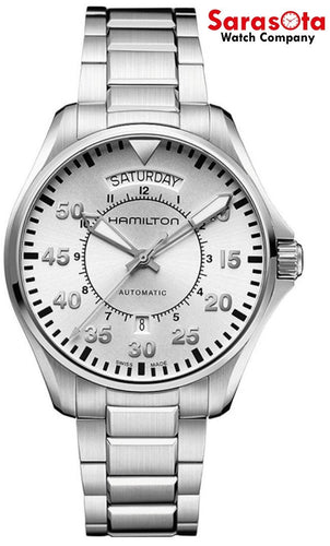 Hamilton Khaki Pilot H64615555 Silver Dial Stainless Automatic Men's Watch