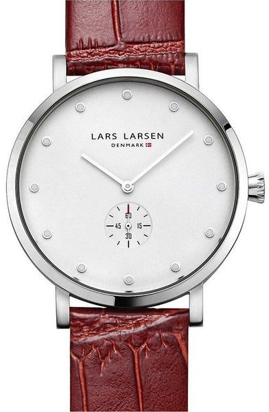 Lars Larsen Tristan 132SWCL Stainless Steel Case Brown Leather Band Unisex Watch
