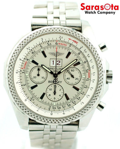 Breitling Bentley A44362 Silver Storm Dial Chronograph Automatic Men's Watch