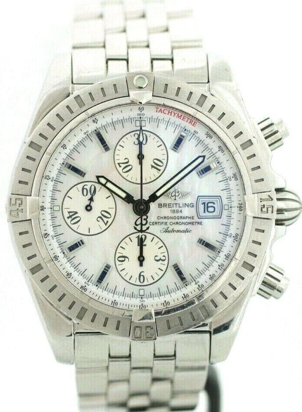Breitling Chronomat Evolution A13356 MOP Dial Stainless Automatic Men's Watch