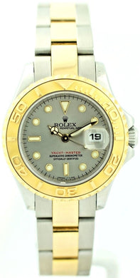 Rolex Yacht-Master 69623 18K/Steel Gray Dial Year Automatic Women's Watch