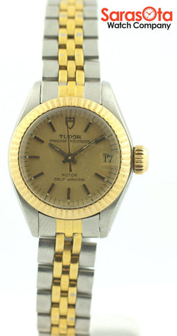Vintage Tudor Oysterdate 92313 14K Gold/Stainless Steel Dress Women's Watch