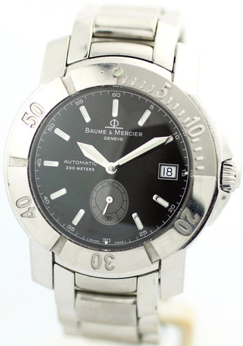Baume&Mercier 65353 Black Dial Stainless Steel Swiss Automatic 200M Men's Watch