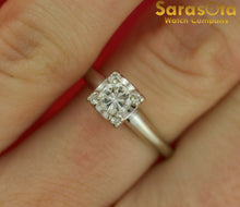 14K White Gold Approx 0.40 Ct Round Diamond Solitaire Women's Ring Size 7.5 - Sarasota Watch Company