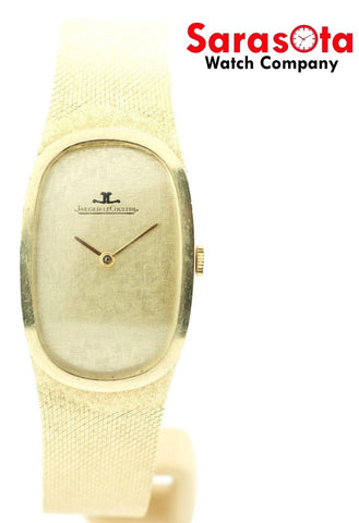 Vintage Jaeger LeCoultre 14K Yellow Gold 17 Jewels Hand Winding Men's Watch