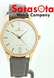 Zenith Old Captain 18k Rose Gold Diamond Bezel 22.2310.3001/01.C498 Women's Watch