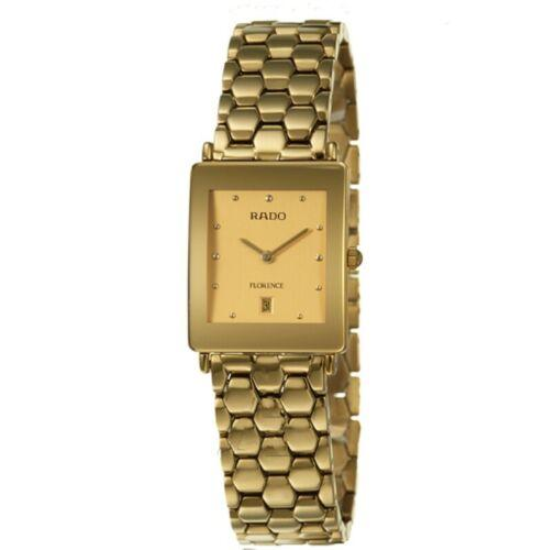 Rado Florence R48843253 Gold Plated Champagne Dial 24mm Quartz Ladies Watch - Sarasota Watch Company