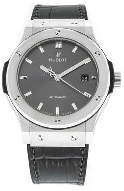 Hublot Classic Fusion Gray Dial Titanium 42mm Rubber Automatic Men's Watch