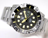 Vintage Seiko 7S36C Stainless Steel Black Dial 44mm Diver Automatic Men's Watch - Sarasota Watch Company