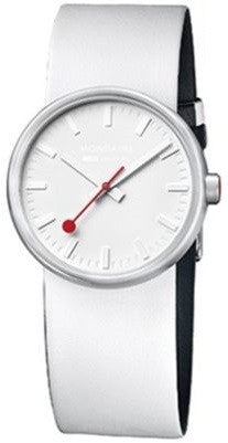 Mondaine A658.30306.16SBA EVO Bold Steel White Leather Quartz Women's Watch