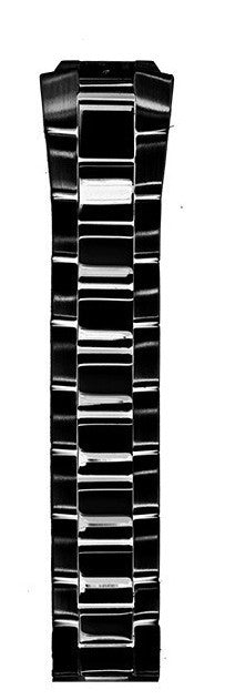 Philip Stein 3-SSBP 22 mm Black Ion Plated Stainless Steel Watch Band