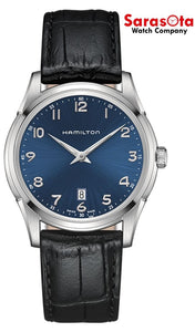 Hamilton Jazzmaster H38511743 Blue Arabic Dial Leather Swiss Quartz Men's Watch