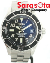 Breitling SuperOcean A17364 Black Arabic Dial Stainless 500M Men's Watch W/B