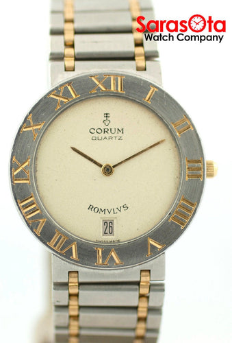 Corum Romvlvs 43903 Beige Dial Two Tone 18K/Steel Swiss Quartz Unisex Watch