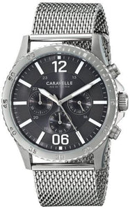 Caravelle New York 43A129 Chronograph Black Dial Stainless Steel Men's Watch